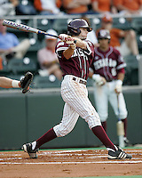 Texas A&M 3B Dane Carter swings against Texas on May 16th, 2008 in Austin Texas. Photo by Andrew Woolley / Four Seam images.