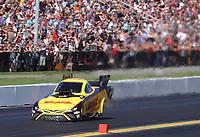 Sep 15, 2019; Mohnton, PA, USA; NHRA funny car driver J.R. Todd during the Reading Nationals at Maple Grove Raceway. Mandatory Credit: Mark J. Rebilas-USA TODAY Sports