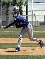 April 1, 2004:  Pitcher Rich Rundles of the Montreal Expos (Washington Nationals) organization during Spring Training at Osceola County Stadium in Kissimmee, FL.  Photo copyright Mike Janes/Four Seam Images