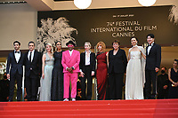 """CANNES, FRANCE. July 6, 2021:  Jury president and Director Spike Lee, Director Mati Diop, Melanie Laurent, Mylene Farmer, Maggie Gyllenhaal, Director Jessica Hausner, Tahar Rahim, Director Kleber Mendonca Filho & Song Kang-Ho  at the premiere of """"Annette"""" at the gala opening of the 74th Festival de Cannes.<br /> Picture: Paul Smith / Featureflash"""