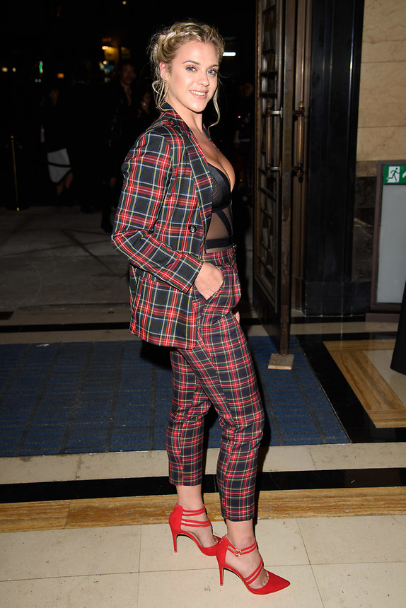 Laura Crane<br /> front row at the Ashley Isham London Fashion Week SS18 catwalk show, London<br /> <br /> ©Ash Knotek  D3431  14/09/2018