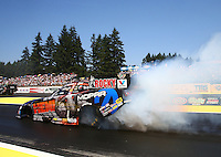 Aug. 3, 2014; Kent, WA, USA; NHRA funny car driver Matt Hagan during the Northwest Nationals at Pacific Raceways. Mandatory Credit: Mark J. Rebilas-
