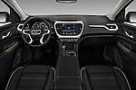 Stock photo of straight dashboard view of 2018 GMC Acadia Denali 5 Door SUV Dashboard