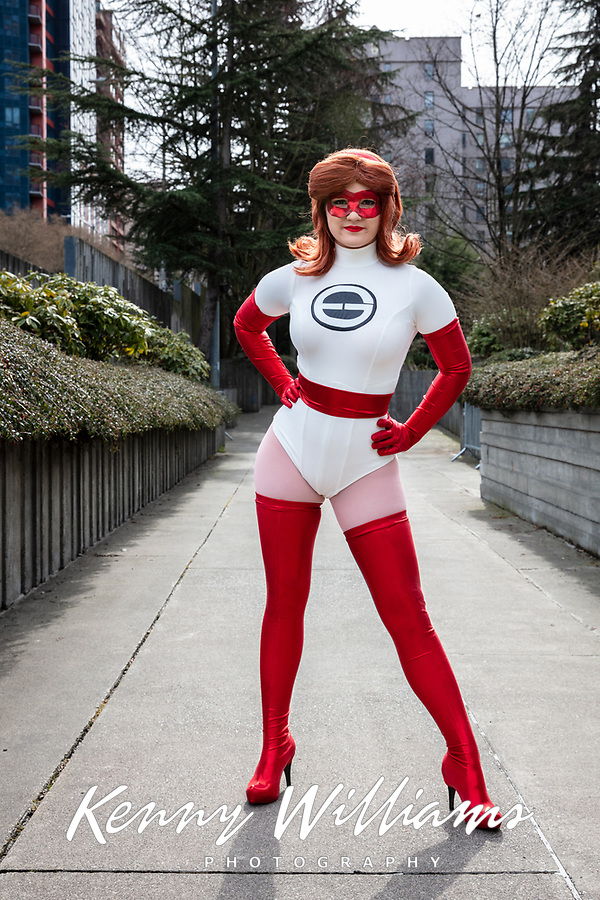 Elastigirl Cosplay, Emerald City Comicon, Seattle, WA, USA.