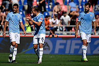 Dejection of Lazio players after Arthur Theate of Bologna FC  scored the goal of 2-0 during the Serie A football match between Bologna FC and SS Lazio at Renato Dall'Ara stadium in Bologna (Italy), October 3rd, 2021. Photo Andrea Staccioli / Insidefoto