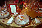 A table setting at the Houston Grand Opera Ball at the Wortham Theater Saturday  April 05,2008. (Dave Rossman/For the Chronicle)