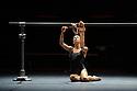 London, UK. 14.04.2015. Diana Vishneva: One the Edge premieres at the London Coliseum. This piece is SWITCH, performed by Diana Vishneva, Bernice Coppieters, Gaetan Morlotti. Photograph © Jane Hobson.