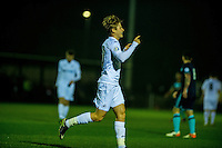 Monday  19 December 2014<br /> Pictured: George Byers of Swansea City Celebrates his goal <br /> Re: Swansea City U23 v Middlesbrough u23 at the Landore Training Facility, Swansea, Wales, UK