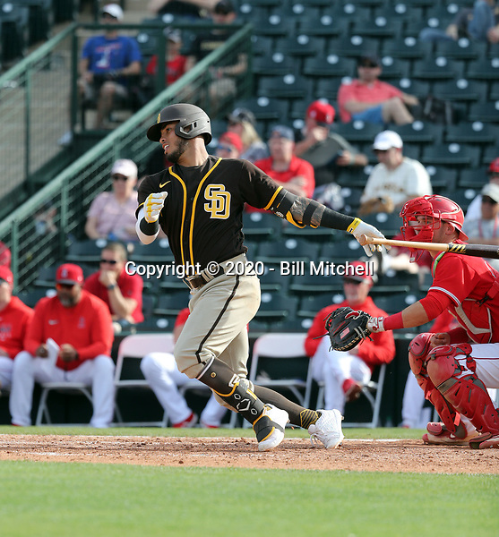 Gabriel Arias - San Diego Padres 2020 spring training (Bill Mitchell)
