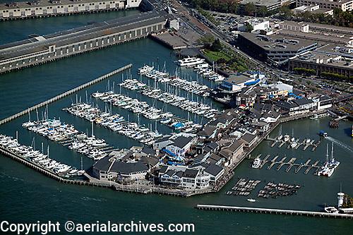 aerial photograph Pier 39 San Francisco