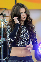 NEW YORK, NY - JULY 26: Selena Gomez performs during ABC's 'Good Morning America' at Rumsey Playfield on July 26, 2013 in New York City. (Photo by Celebrity Monitor)