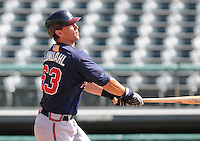 16 March 2009: Chad Lundahl of the Atlanta Braves at the Braves' Spring Training camp at Disney's Wide World of Sports in Lake Buena Vista, Fla. Photo by:  Tom Priddy/Four Seam Images