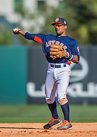 4 March 2016: Houston Astros infielder Tony Kemp in action during a Spring Training pre-season game against the St. Louis Cardinals at Osceola County Stadium in Kissimmee, Florida. The Astros defeated the Cardinals 6-3 in Grapefruit League play. Mandatory Credit: Ed Wolfstein Photo *** RAW (NEF) Image File Available ***