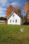 East Washington School in East Washington, New Hampshire USA during the autumn months. Washington is the first town incorporated under the name of George Washington.