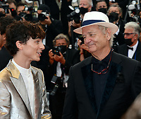 CANNES, FRANCE. July 12, 2021: Timothee Chalamet, Bill Murray & Benicio Del Toro at the gala premiere of Wes Anderson's The French Despatch at the 74th Festival de Cannes.<br /> Picture: Paul Smith / Featureflash