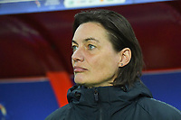 20200307  Valenciennes , France : French Head Coach Corinne Diacre  pictured during the female football game between the national teams of France and Brasil on the second matchday of the Tournoi de France 2020 , a prestigious friendly womensoccer tournament in Northern France , on Saturday 7 th March 2020 in Valenciennes , France . PHOTO SPORTPIX.BE | DIRK VUYLSTEKE