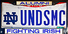 October 11, 2021; Ohio license plate UNDSMC (photo by Matt Cashore/University of Notre Dame)