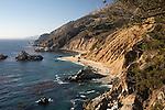 United States of America, California, Monterey County, Big Sur: Coastline at Julia Pfeiffer Burns State Park | Vereinigte Staaten von Amerika, Kalifornien, Monterey County, Big Sur: Kueste bei Julia Pfeiffer Burns State Park