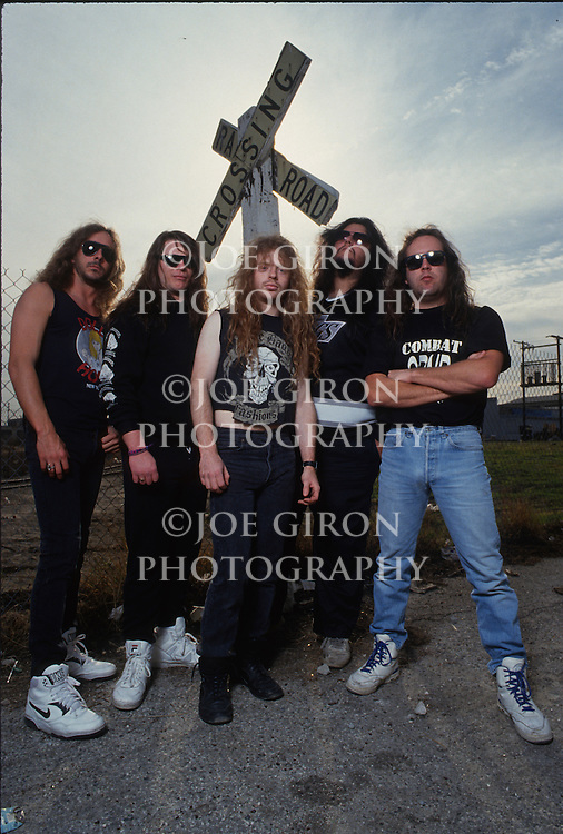 Various portrait sessions of the rock band, Dark Angel