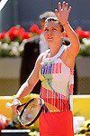 Simona Halep, Roumania, during Madrid Open Tennis 2016 match.May, 4, 2016.(ALTERPHOTOS/Acero)