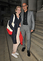 Felicity Blunt and Stanley Tucci at the Fortnum & Mason Food and Drink Awards 2021, Fortnum & Mason at the Royal Exchange, Royal Exchange, Cornhill, on Thursday 09th September 2021 in London, England, UK. <br /> CAP/CAN<br /> ©CAN/Capital Pictures