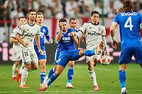 30th September 2021; Marshall Józef Piłsudski's Municipal Stadium, Warsaw, Poland: Europa League fooball, Legia Warsaw versus Leicester City;  AYOZE PEREZ and JOSUE