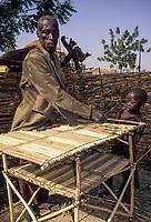 Nigerien Villager making a Table, Djiliki, Niger.