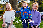 Enjoying the playground in the Listowel town park on Sunday, l to r: Jessica and Kaiden Enright and Kate Nolan