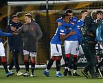 03.03.2021 Livingston v Rangers: Alfredo Morelos and Connor Goldson at full time