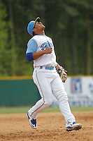 Myrtle Beach Pelicans shortstop Gleyber Torres (11) in the field during a game against the Frederick Keys at Ticketreturn.com Field at Pelicans Ballpark on April 10, 2016 in Myrtle Beach, South Carolina. Myrtle Beach defeated Frederick 7-5. (Robert Gurganus/Four Seam Images)