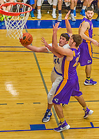 22 November 2015: Yeshiva University Maccabee Forward Shelby Rosenberg, a Senior from Woodmere, NY, drives to the basket during the second half of play against the Hunter College Hawks at the Max Stern Athletic Center  in New York, NY. The Maccabees defeated the Hawks 81-71 in non-conference play, for their second win of the season. Mandatory Credit: Ed Wolfstein Photo *** RAW (NEF) Image File Available ***