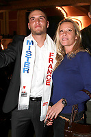 Mister France Eloy Pechier et sa mere - Election de Mister France 2017 au Théatre le Palace - Paris, France - 14/03/2017