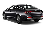 Car pictures of rear three quarter view of 2022 KIA K5 LXS-FWD 4 Door Sedan Angular Rear