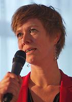 21-01-14,Netherlands, Almere,  Centerpoint, Press-conference Daviscup, ,   Sandra Helmus<br /> Photo: Henk Koster