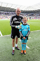 Pictured: Adrian Tucker (L).<br /> Saturday 04 May 2013<br /> Re: Barclay's Premier League, Swansea City FC v Manchester City at the Liberty Stadium, south Wales.