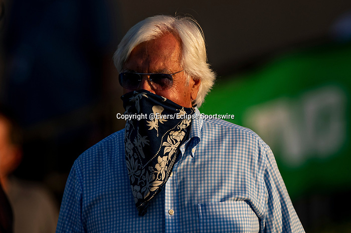 AUG 22: Bob. Baffert ties Robert Frankel with the most all time wins the Pacific Classic with 6 wins after, Maximum Security, and Jockey Abel Cedill fly away and secure a spot in the Breeders' Cup Classic with a victory in the Grade I Pacific Classic with jockey Abel Cedillo aboard, in Del Mar, California on August 22, 2020. Evers/Eclipse Sportswire/CSM