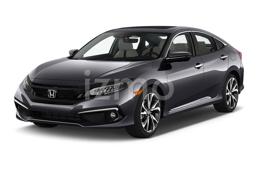 2021, 2020, 2019 Honda Civic-Sedan Touring 4 Door Sedan Angular Front stock photos of front three quarter view