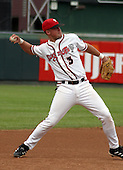 August 31, 2003:  Casey McGehee of the Lansing Lugnuts, Class-A affiliate of the Chicago Cubs, during a Midwest League game at Oldsmobile Park in Lansing, MI.  Photo by:  Mike Janes/Four Seam Images