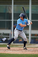 Tampa Bay Rays Ford Proctor (35) bats during a Minor League Spring Training game against the Baltimore Orioles on March 16, 2019 at the Buck O'Neil Baseball Complex in Sarasota, Florida.  (Mike Janes/Four Seam Images)