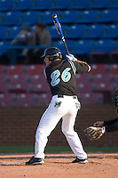 Dan Bowman #26 of the Coastal Carolina Chanticleers at bat versus the  Wake Forest Demon Deacons at Wake Forest Baseball Park April 8, 2009 in Winston-Salem, North Carolina. (Photo by Brian Westerholt / Four Seam Images)