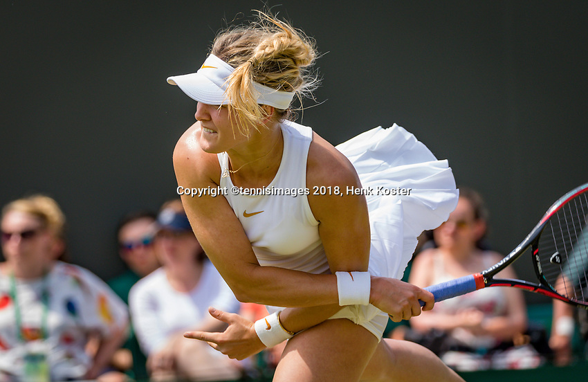 London, England, 5 th. July, 2018, Tennis,  Wimbledon, Eugenie Bouchard (CAN)<br /> Photo: Henk Koster/tennisimages.com