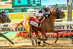 JUNE 08, 2019 : , Sir Winston with Joel Rosario , wins the Belmont Stakes, at Belmont Park, in Elmont, NY, June 8, 2019.  Sue Kawczynski_ESW_CSM
