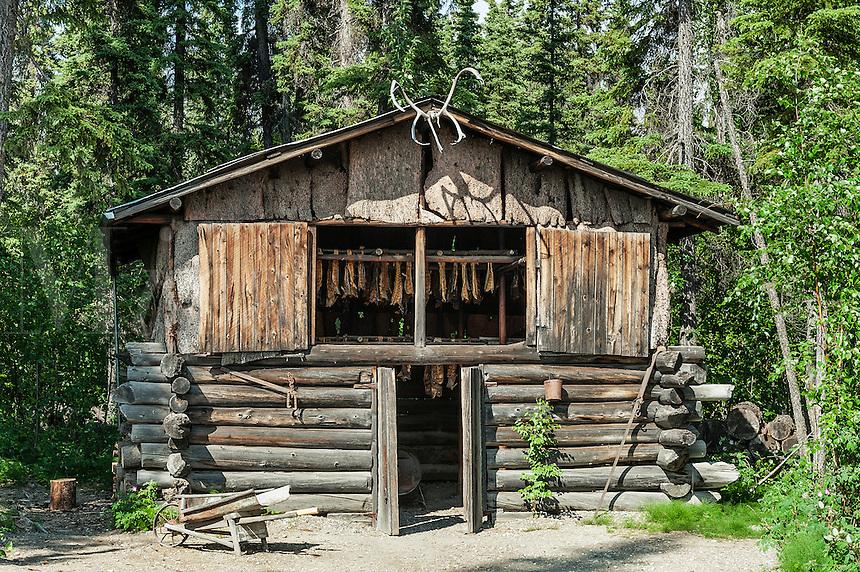 Fish smokehouse, Chena Indian Village, Alaska, USA
