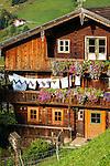 Austria, Tyrol, Wildschoenau: high valley at Kitzbuehel Alps, district Niederau, farmhouse | Oesterreich, Tirol, Wildschoenau: Hochtal in den Kitzbueheler Alpen bei Woergl, Kirchdorf Niederau, Bauerhof
