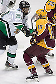 Matt Smaby, Danny Irmen - The University of Minnesota Golden Gophers defeated the University of North Dakota Fighting Sioux 4-3 on Friday, December 9, 2005, at Ralph Engelstad Arena in Grand Forks, North Dakota.