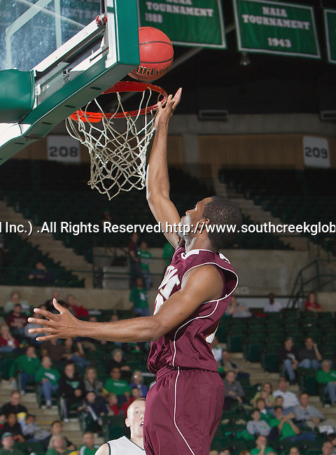 Louisiana Monroe Warhawks guard Hugh Mingo (24) in action during the game between the Louisiana Monroe Warhawks and the University of North Texas Mean Green at the North Texas Coliseum,the Super Pit, in Denton, Texas. UNT defeats ULM 86 to 51...