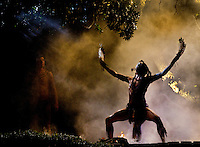 Photography of live performance theater The Lost Colony as it performed its 74th season. The Lost Colony, one of the country's longest-running outdoor symphonic dramas, is held at the Waterside Theatre on Roanoke Island in Manteo, North Carolina...