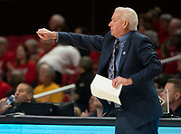COLLEGE PARK, MD - JANUARY 26: Head coach of Northwestern Joe McKeowne directs a play during a game between Northwestern and Maryland at Xfinity Center on January 26, 2020 in College Park, Maryland.