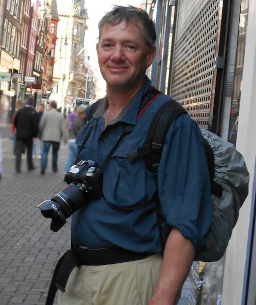 John photographing in Amsterdam, Netherlands.