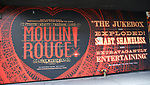"""Billboard for """"Moulin Rouge!"""" The Broadway Musical at the Al Hirschfeld Theatre on July 9, 2019 in New York City."""